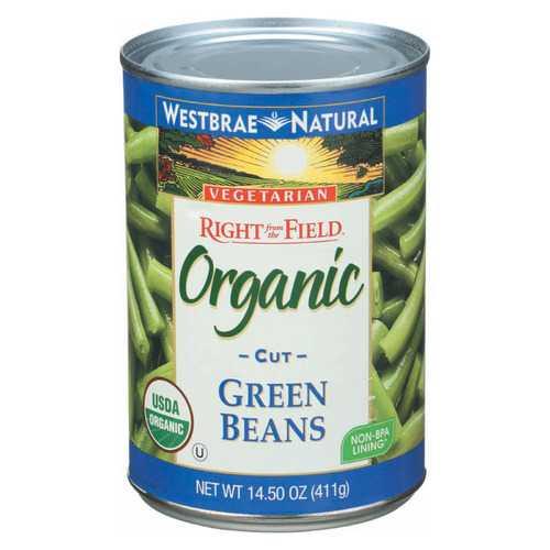 Westbrae Foods Organic Cut Green Beans - Case of 12 - 14.5 oz.