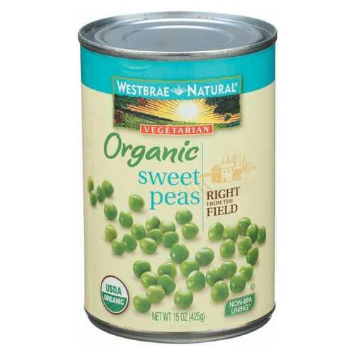Westbrae Foods Sweet Peas - Sweet Peas - Case of 12 - 15 oz.
