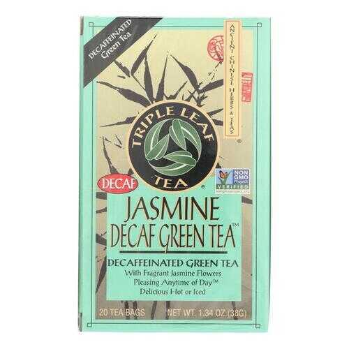Triple Leaf Tea Jasmine Green Tea - Decaffeinated - Case of 6 - 20 Bags