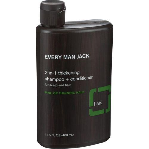 Every Man Jack 2 in 1 Shampoo plus Conditioner - Thickening - Scalp and Hair - Fine or Thinning Hair - 13.5 oz