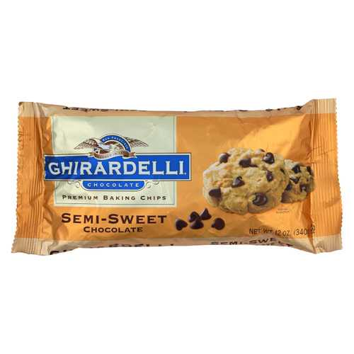 Ghirardelli Baking Chips - Semi Sweet Chocolate - Case of 12 - 12 oz.