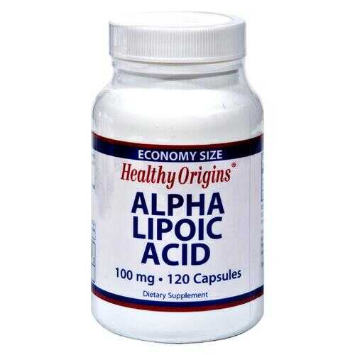 Healthy Origins Alpha Lipoic Acid - 100 mg - 120 Caps