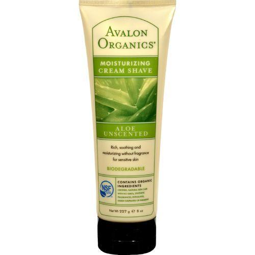 Avalon Organics Moisturizing Cream Shave Aloe Unscented - 8 fl oz