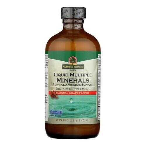 Nature's Answer - Liquid Multiple Minerals Iron Free Natural Grape - 8 fl oz