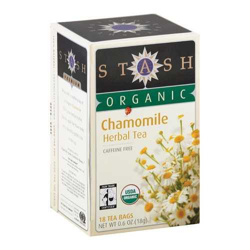 Stash Tea Organic Herbal Tea - Chamomile - Case of 6 - 18 Bags