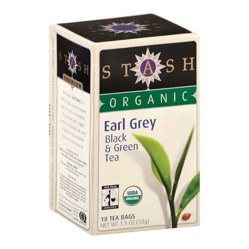 Stash Tea Organic Earl Grey Black and Green Tea - Case of 6 - 18 Bags