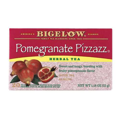 Bigelow Tea Herbal Tea - Pomegranate Pizzazz - Case of 6 - 20 BAG