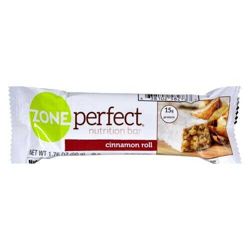 Zone - Nutrition Bar - Cinnamon Roll - Case of 12 - 1.76 oz.