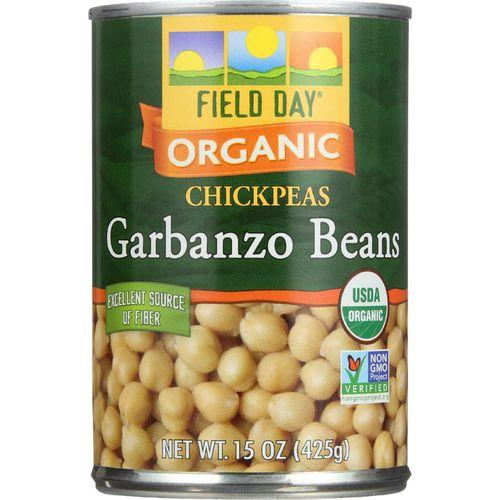 Field Day Beans - Organic - Garbanzo - 15 oz - case of 12