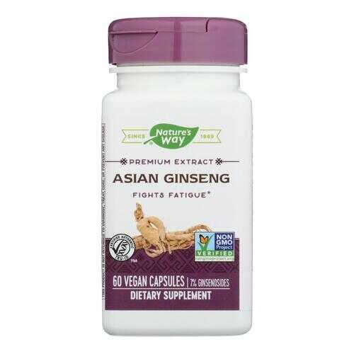 Nature's Way - Korean Ginseng Root Standardized - 60 Vegetarian Cpasules
