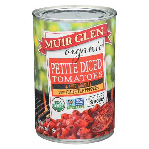 Muir Glen Diced Chipotle Tomato - Tomato - Case of 12 - 14.5 oz.