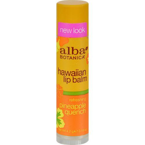 Alba Botanica Lip Balm - Pineapple Quench - Case of 24 - .15 oz