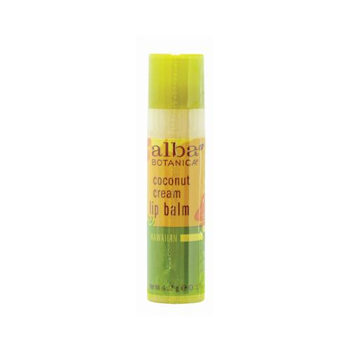 Alba Botanica Lip Balm - Coconut Cream - Case of 24 - .15 oz