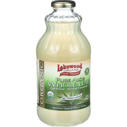 Lakewood Organic Aloe Juice - Whole Leaf - Fresh Pressed - with Lemon - 32 oz