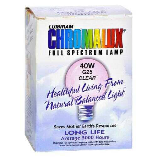 Chromalux Light Bulb Golbe Clear - 40W Bulb.