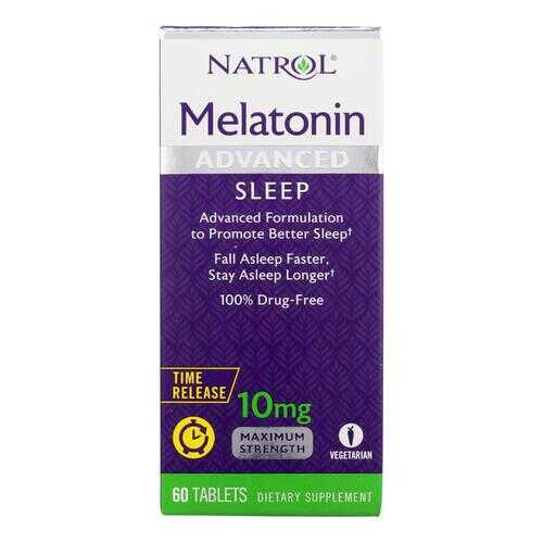 Natrol Advanced Sleep Melatonin - 10 mg - 60 Tablets