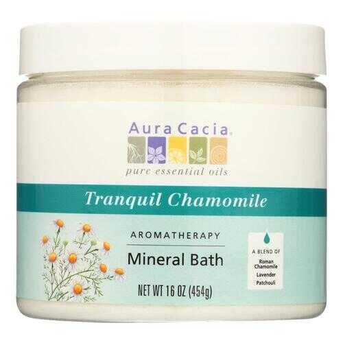 Aura Cacia - Aromatherapy Mineral Bath Tranquility Chamomile - 16 oz