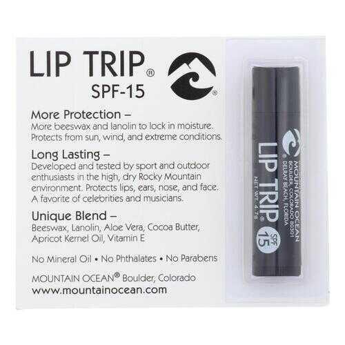 Mountain Ocean - Lip Trip Lip Balm - SPF15 - Case of 12 - 0.165 oz.