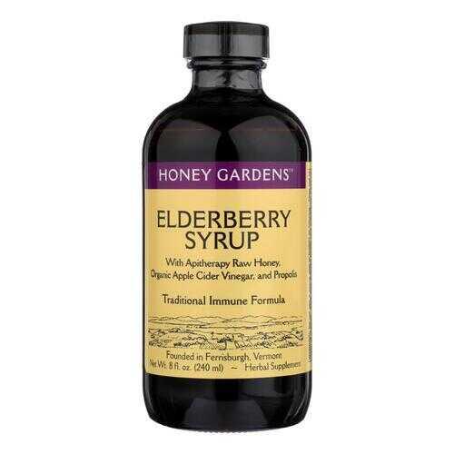 Honey Gardens Apiaries Organic Honey Elderberry Extract with Propolis - 8 fl oz