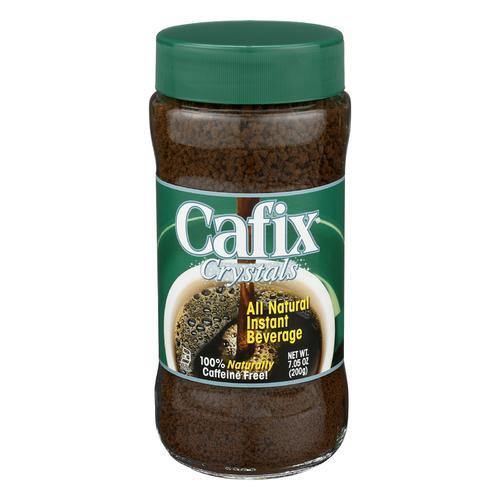 Cafix All Natural Instant Beverage Crystals - Caffeine Free - Case of 12 - 7 oz.