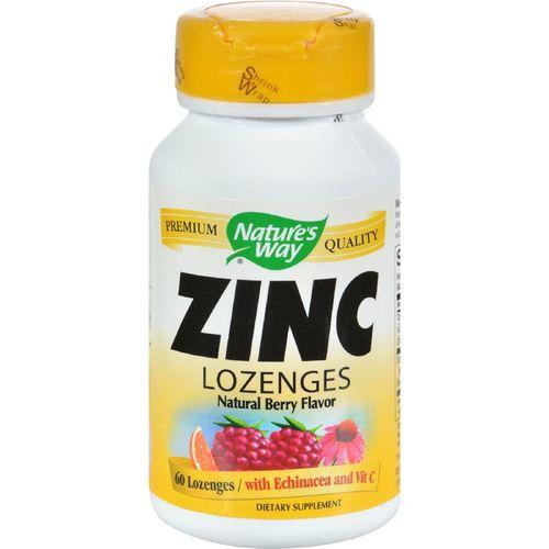 Nature's Way Zinc Lozenges Natural Berry - 60 Capsules