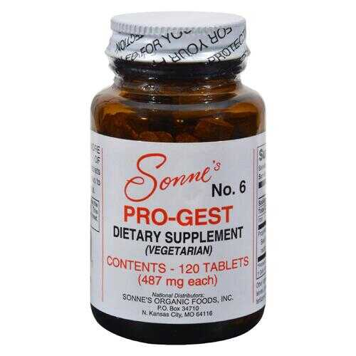 Sonne's Pro-Gest Vegetarian No 6 - 120 Tablets