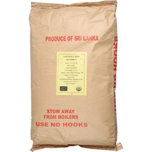 Bulk Dried Fruit Coconut - Organic - Dried - Shredded - Medium - Unsulphured - 1 lb - case of 25