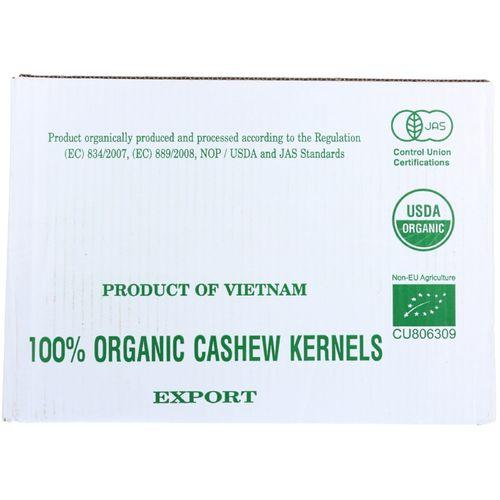 Bulk Nuts Cashews - Organic - Whole - Raw - 1 lb - case of 25