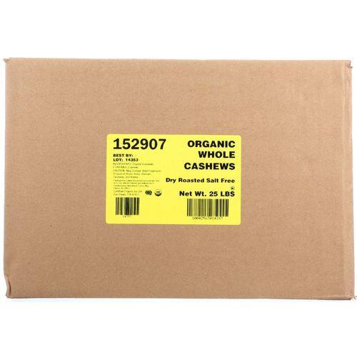Bulk Nuts Cashews - Organic - Whole - Fancy - Roasted - No Salt - 1 lb - case of 25