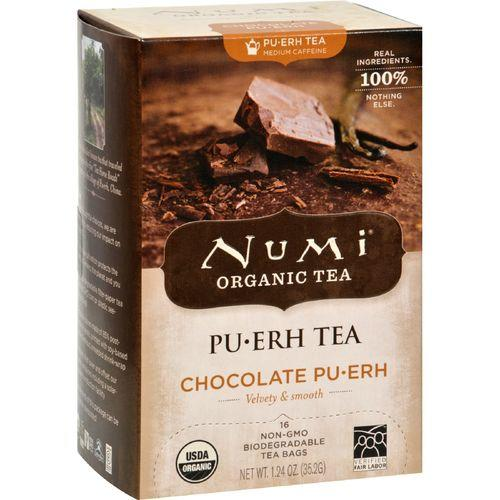 Numi Tea Organic Chocolate Pu-Erh - Case of 6 - 16 Bag