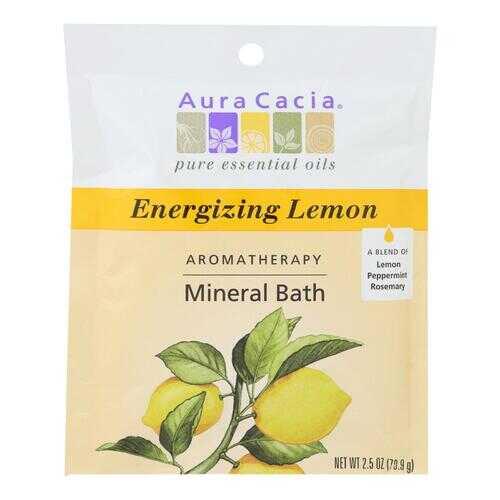 Aura Cacia - Aromatherapy Mineral Bath Energizing Lemon - 2.5 oz - Case of 6