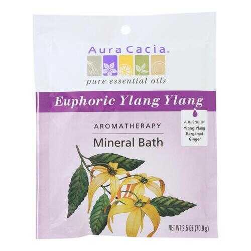 Aura Cacia Aromatherapy Mineral Bath Euphoria - 2.5 oz - Case of 6
