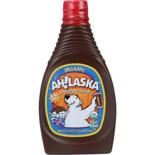 AhLaska Chocolate Syrup - Organic - 22 oz - case of 12