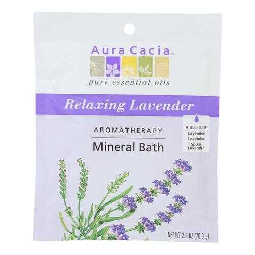 Aura Cacia - Aromatherapy Mineral Bath Lavender Harvest - 2.5 oz - Case of 6