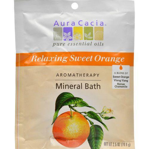 Aura Cacia - Aromatherapy Mineral Bath Relaxing Sweet Orange - 2.5 oz - Case of 6