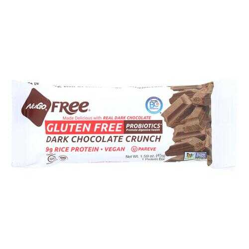 Nugo Nutrition Bar - Gluten Free Dark Chocolate Crunch - Case of 12 - 45 Grams