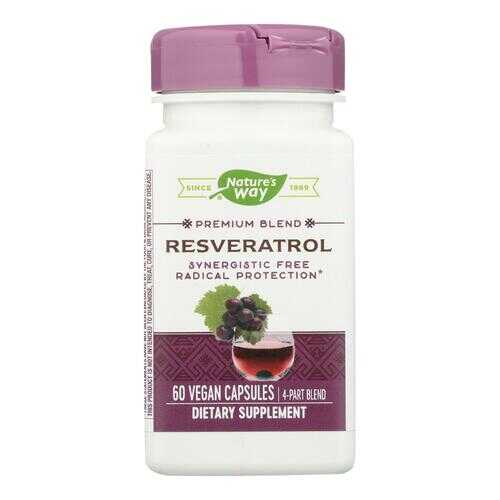 Nature's Way - Resveratrol - 60 Vegetarian Capsules