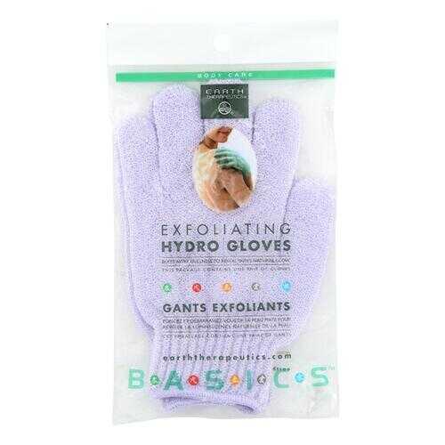 Earth Therapeutics Exfoliating Hydro Gloves White - 1 Pair