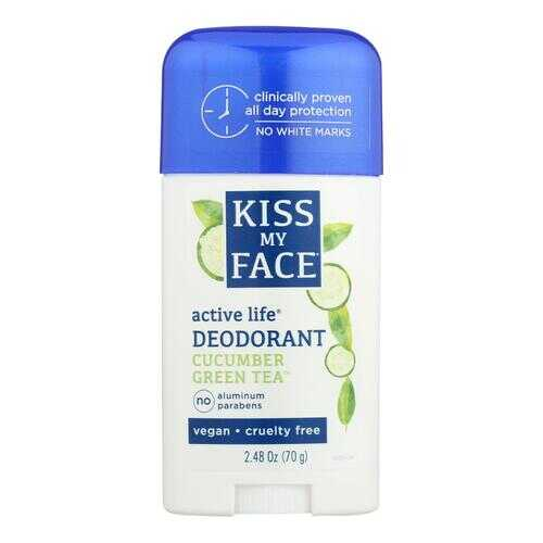 Kiss My Face Deodorant Active Life Cucumber Green Tea Aluminum Free - 2.48 oz