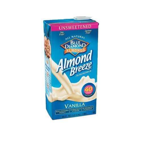 Almond Breeze Unsweetened Almondmilk -Vanilla - Case of 8 - 64 fl oz