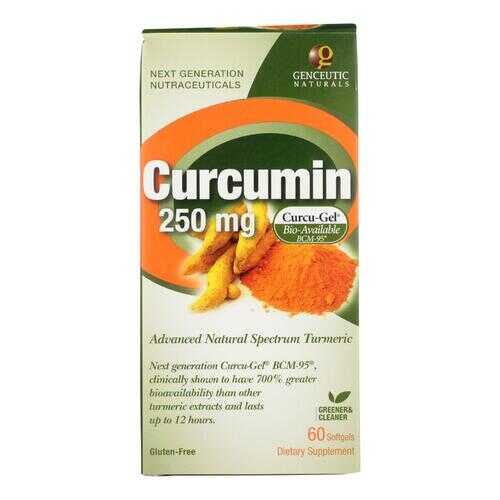 Genceutic Naturals Curcumin - 250 mg - 60 Softgels