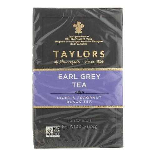 Taylors Of Harrogate Earl Grey Tea Bags  - Case of 6 - 50 BAG
