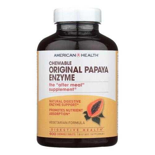 American Health - Original Papaya Enzyme Chewable - 600 Tablets