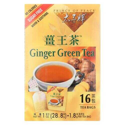 Prince of Peace Ginger Green Tea - 16 Tea Bags