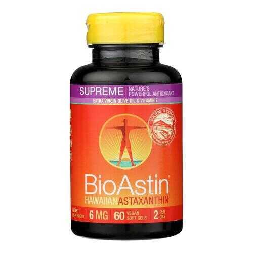 Nutrex Hawaii BioAstin Supreme - 6 mg - 60 Vegetarian Softgels