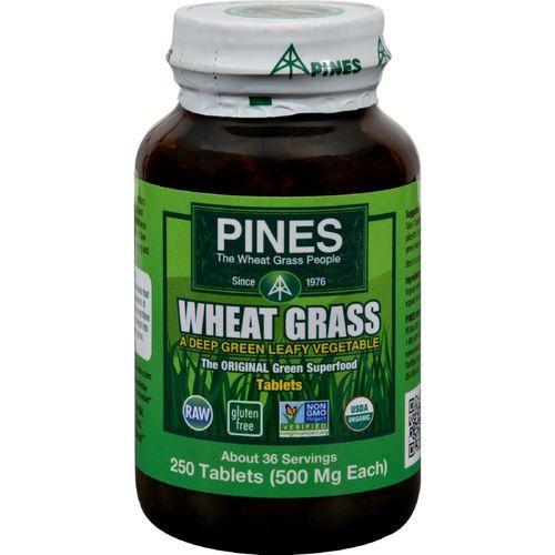 Pines International Wheat Grass - 500 mg - 250 Tablets
