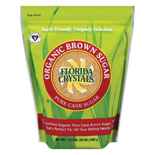 Florida Crystals Organic Brown Sugar - Brown Sugar - Case of 6 - 24 oz.