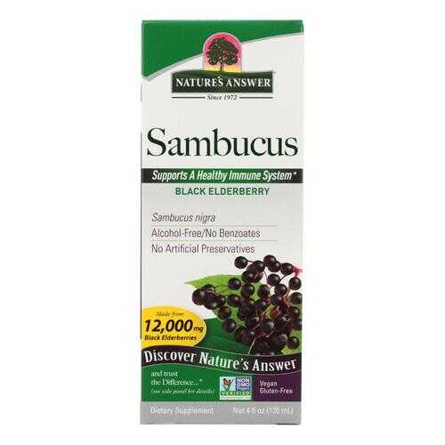 Nature's Answer Sambucus nigra Black Elder Berry Extract - 4 fl oz