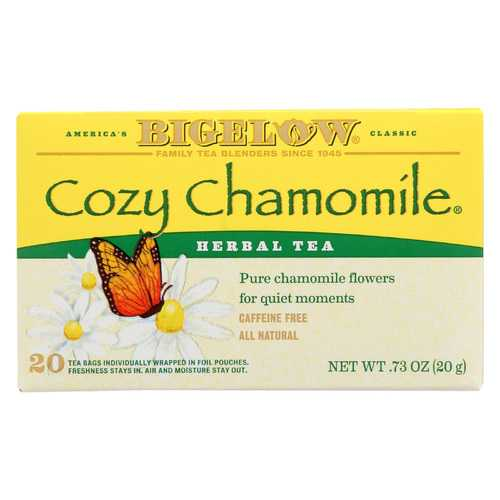 Bigelow Tea Herbal Tea - Cozy Chamomile - Case of 6 - 20 BAG