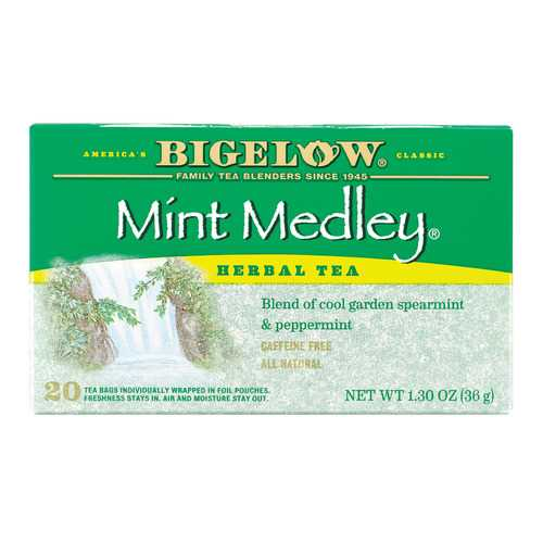 Bigelow Tea Herbal Tea - Mint Medley - Case of 6 - 20 BAG